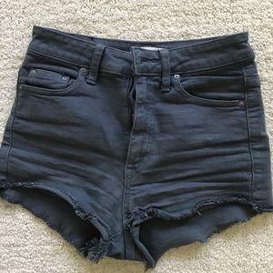 Talula navy high waisted denim shorts